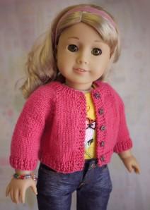 American Girl Doll Cardigan Sweater Knitting Pattern | Cindy Rice
