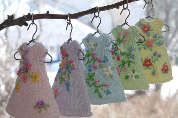 pastel dresses on hangers 261