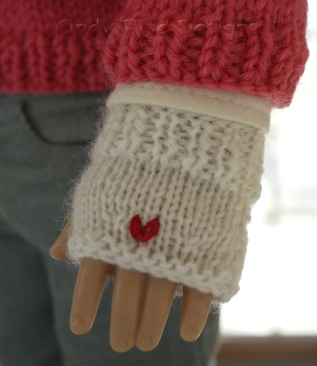 Free American Girl Fingerless Mitts Knitting Pattern Cindy Rice