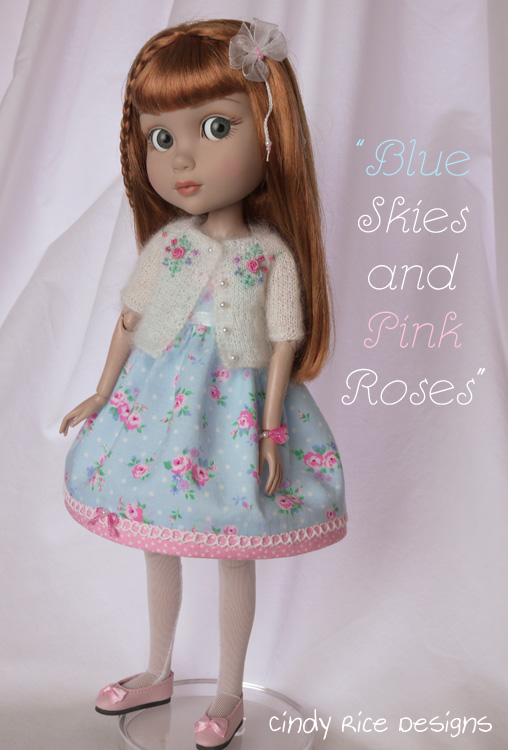blue skies and pink roses 159