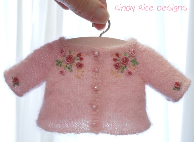 pink mohair cardigan 254