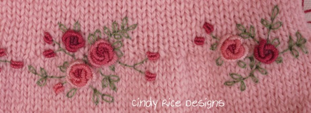 bullion rose embroidery 932