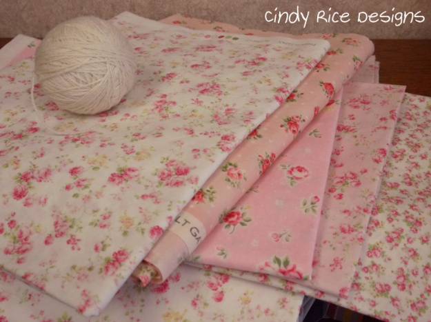 pink roses fabric 376