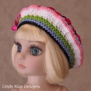 crocheted beret patsy 848