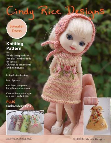 Amelia Thimble sweater dress pattern p1