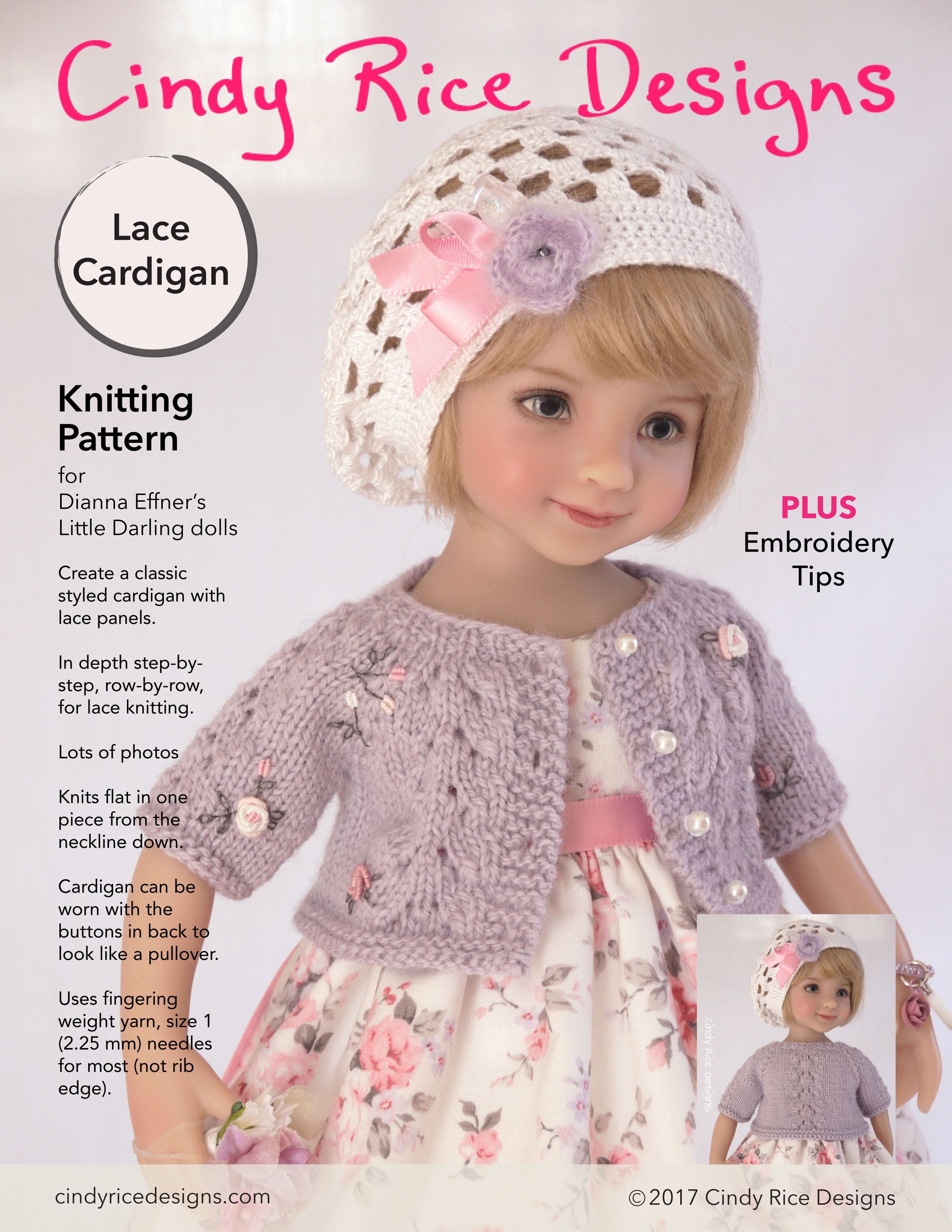 LD lace cardigan pattern p1 only