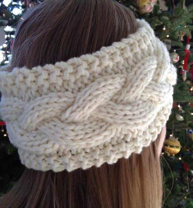 cable knit headband 3715