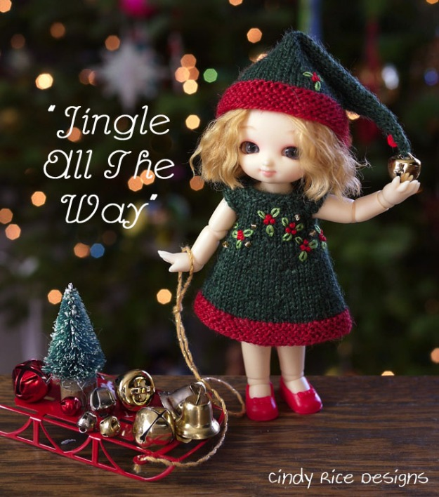jingle all the way pukipuki doll dress hat set 232