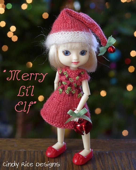 merry li'l elf amelia thimble doll dress hat set 214