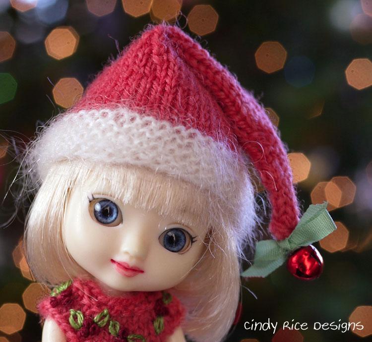 merry li'l elf amelia thimble doll dress hat set 225