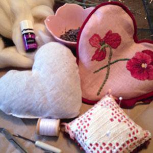 cross stitch heart sachet 3862
