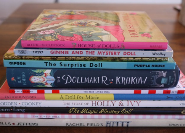 stack of doll books 642