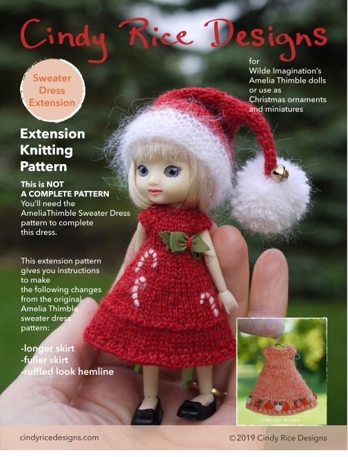 Amelia Thimble sweater dress extension full skirt pattern p1